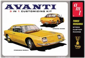 Model Plastikowy Do Sklejania AMT (USA) - 1963 Studebaker Avanti