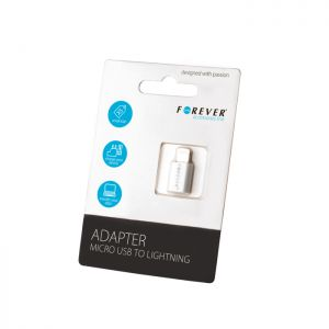 Adapter Forever micro USB do Lightning (iPhone 5/6